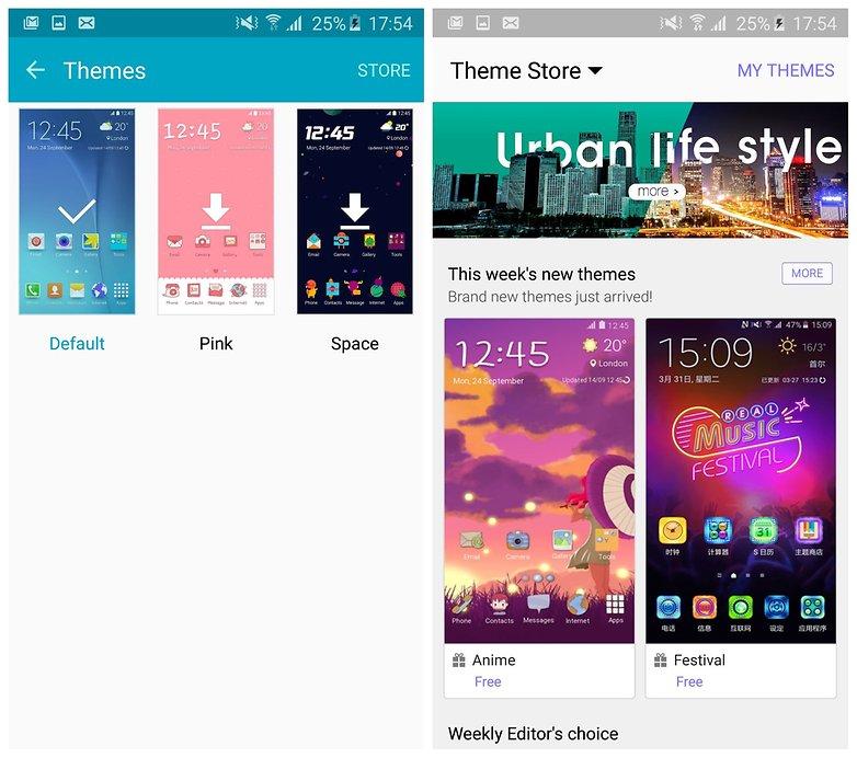 AndroidPIT Galaxy S6 Edge Магазин тем TouchWiz