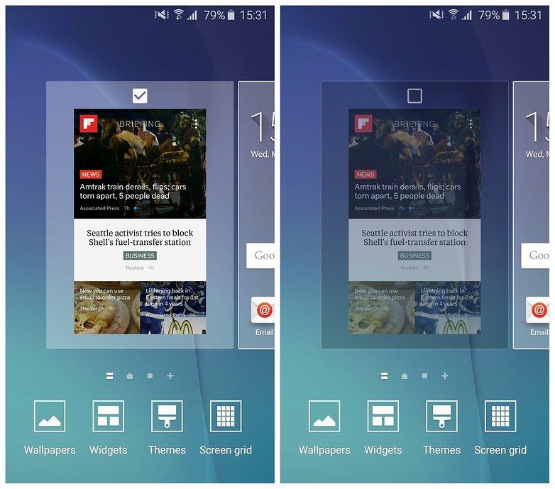 AndroidPIT Galaxy S6 удалить флипборд