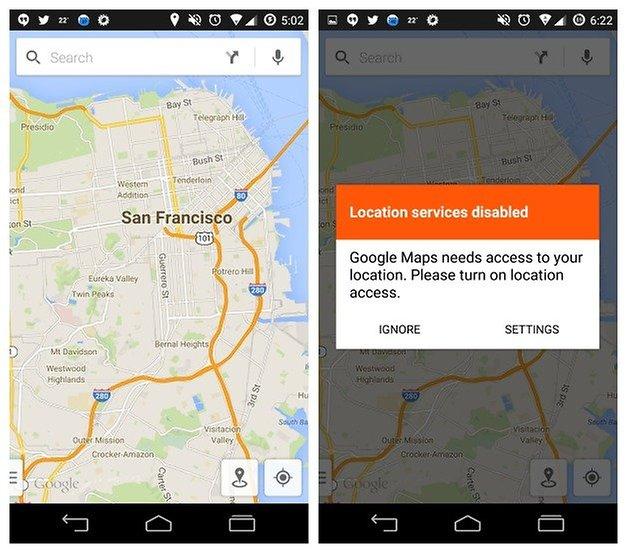 AndroidPIT Google Карты GPS