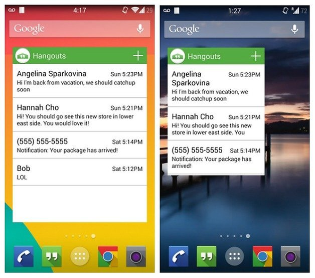Виджет AndroidPIT Hangouts