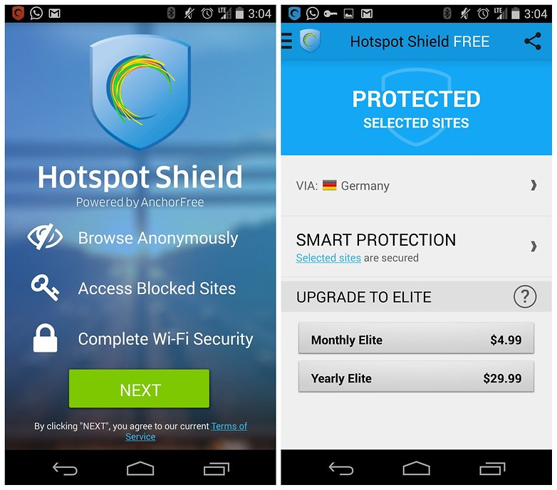 AndroidPIT Hotspot Shield VPN