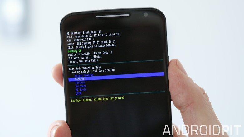AndroidPIT Moto X 2014 Режим восстановления Fastboot
