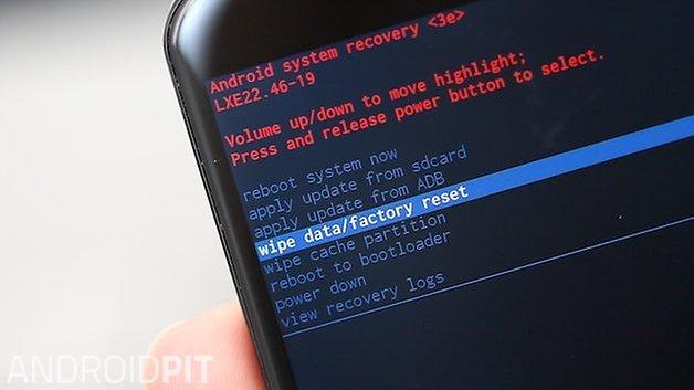AndroidPIT Moto X 2014: очистить данные до заводских настроек