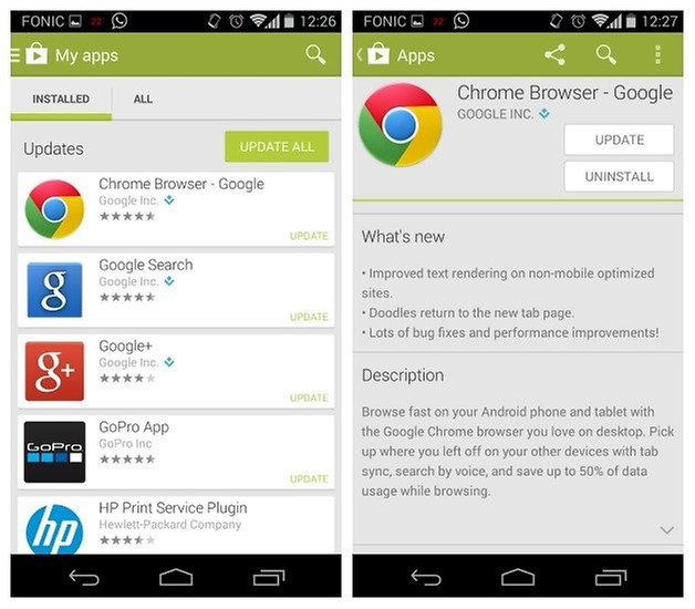 Обновление AndroidPIT Moto X Chrome