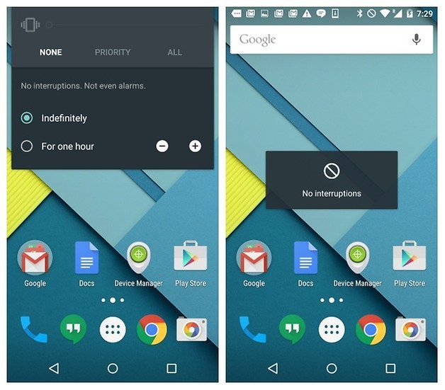 AndroidPIT Nexus 5 Android 5 0 1 Lollipop без уведомлений