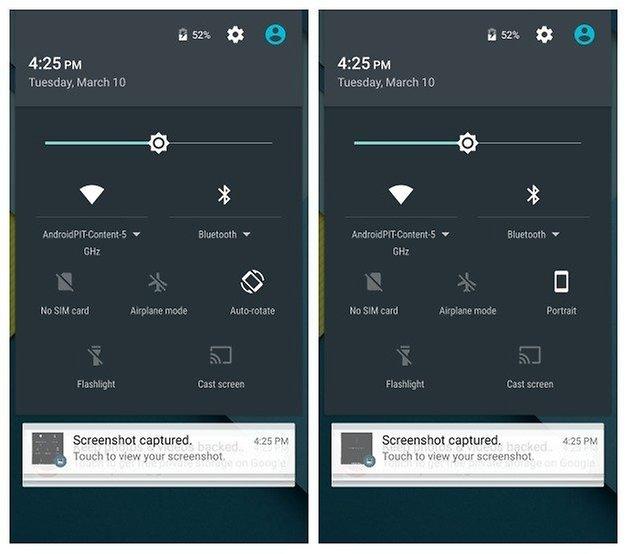 AndroidPIT Nexus 5 Android 5 1 быстрые настройки переключение анимации