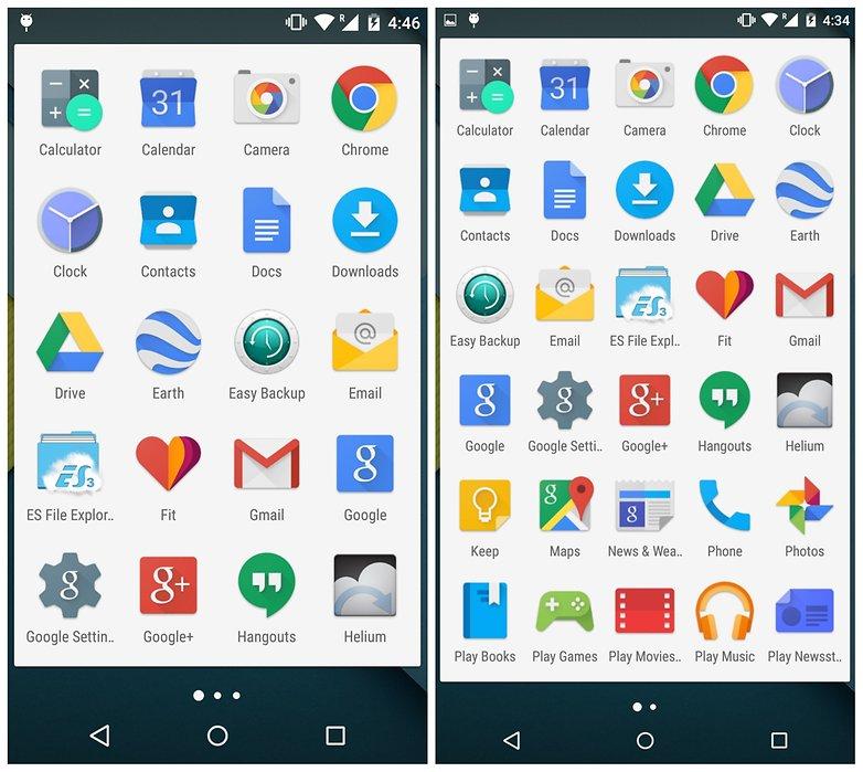 AndroidPIT Nexus 5 lcd 480 density lcd 400 density ящик для приложений