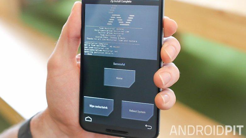 AndroidPIT Nexus 6 TWRP recovery flashi успешно
