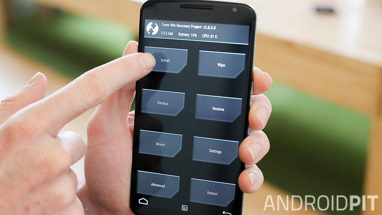 Установка восстановления AndroidPIT Nexus 6 TWRP