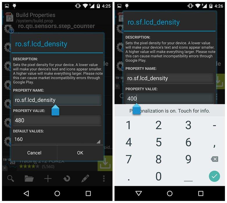 AndroidPIT ROM Toolbox buildprop редактор изменение плотности ЖК-дисплея