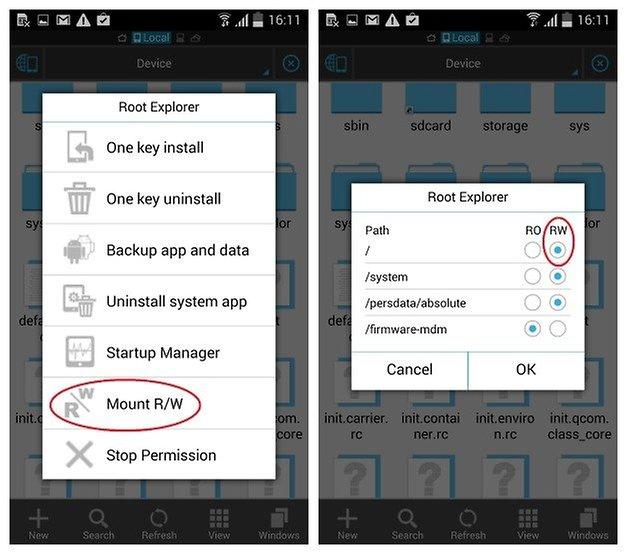 AndroidPIT S4 S5 Root разрешения