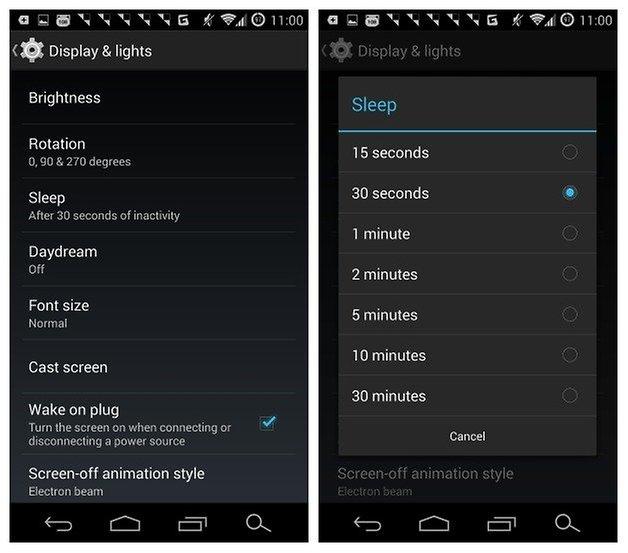 Тайм-аут экрана AndroidPIT