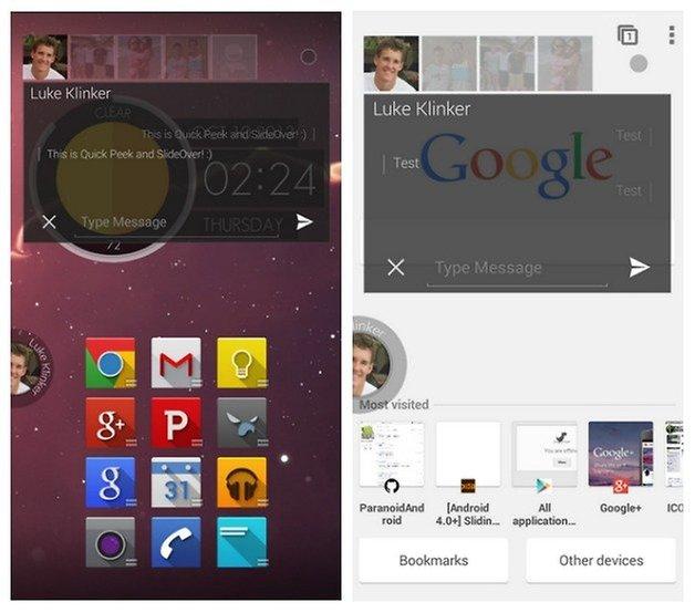 AndroidPIT SlideOver Сообщения