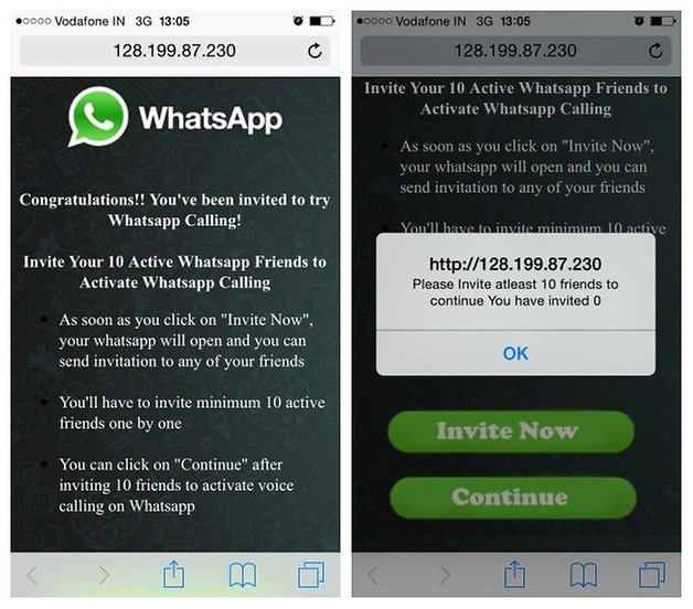 Мошенничество с голосовыми вызовами AndroidPIT WhatsApp iPhone