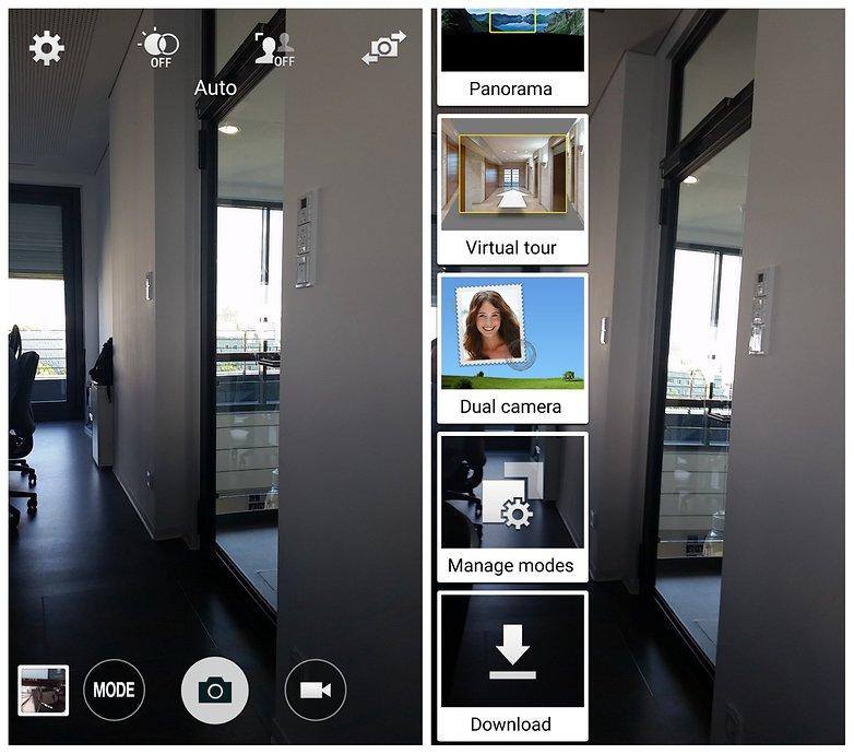 Режимы камеры AndroidPIT Samsung Galaxy S5