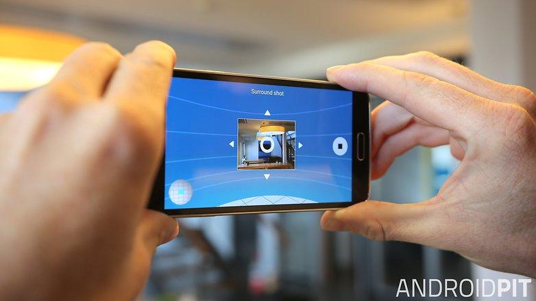 Запуск объемного снимка камеры AndroidPIT Samsung Galaxy S5