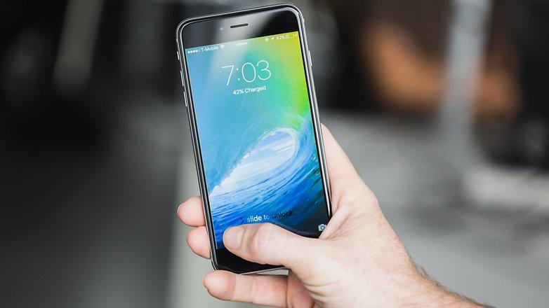 AndroidPIT iPhone 6 Plus Экран блокировки iOS 9