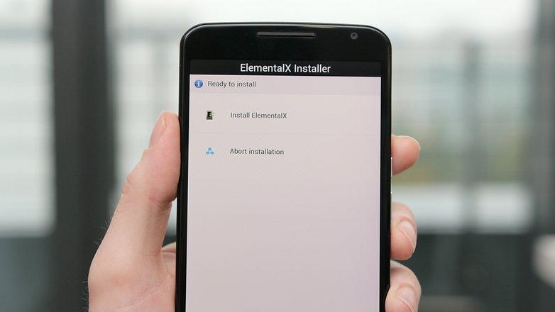 AndroidPIT Nexus 6 TWRP elementalx установить 4