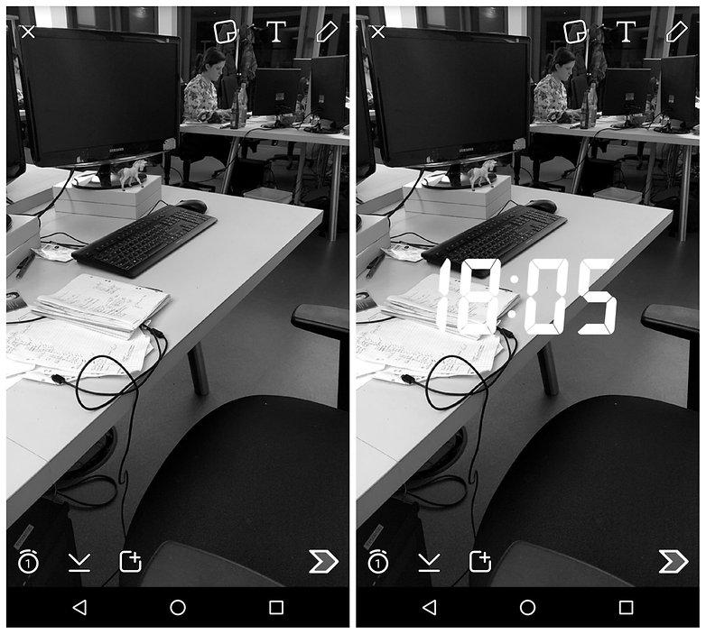 AndroidPIT Snapchat предлагает несколько фильтров