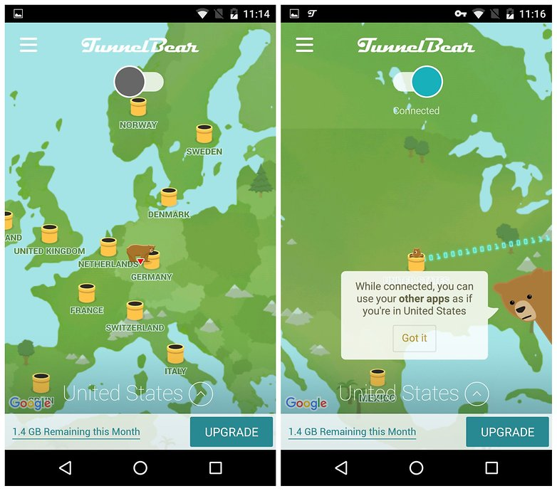 AndroidPIT TunnelBear VPN