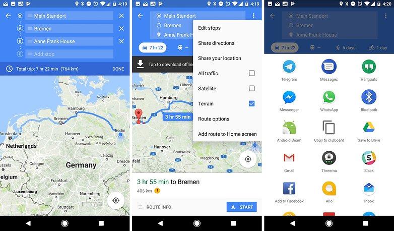 Google карты делятся маршрутами