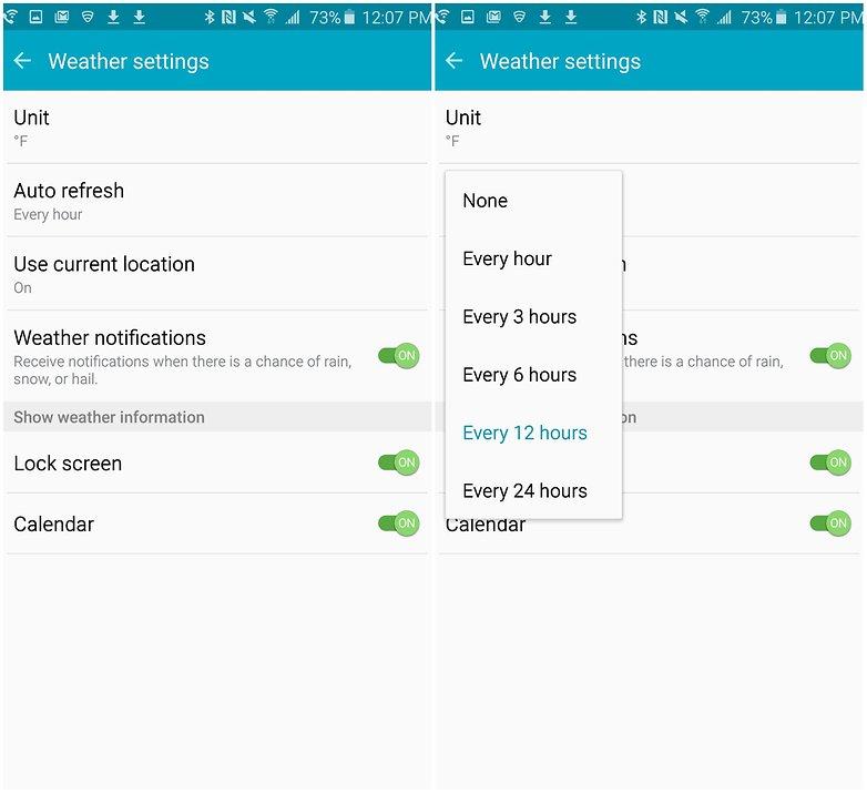 androidpit samsung galaxy note 5 батареи советы настройки погоды
