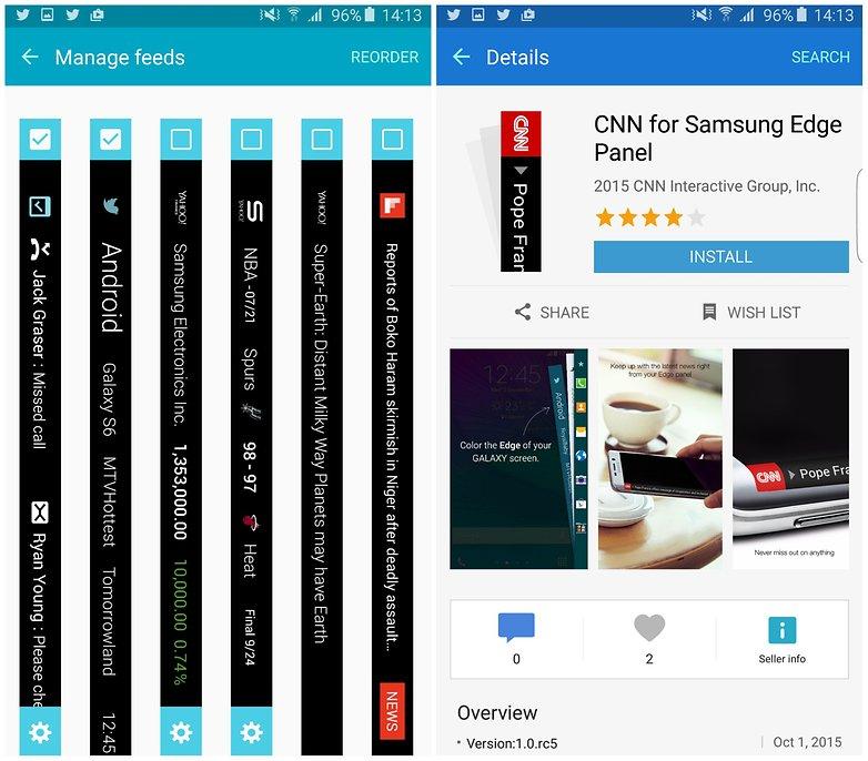 androidpit samsung galaxy s6 edge plus управление каналами