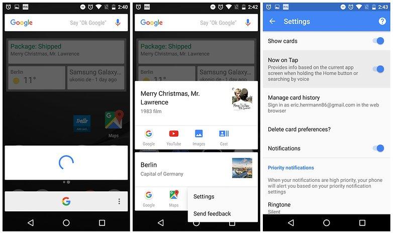 androidpit включить отключить Google сейчас на кране