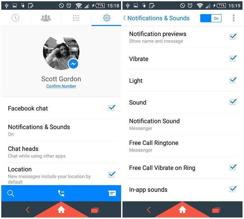 AndroidPit уведомления в мессенджере Facebook 2
