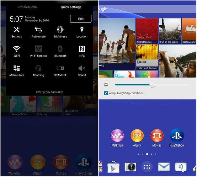 androidpit xperia z3 tablet compact регулировка яркости