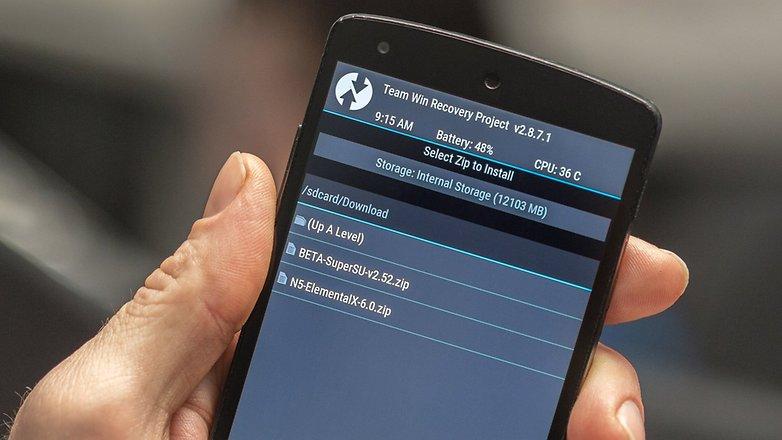 AndroidPIT Nexus 5 TWRP загрузки