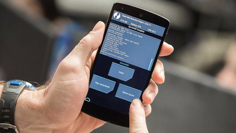 Система перезагрузки AndroidPIT Nexus 5 TWRP