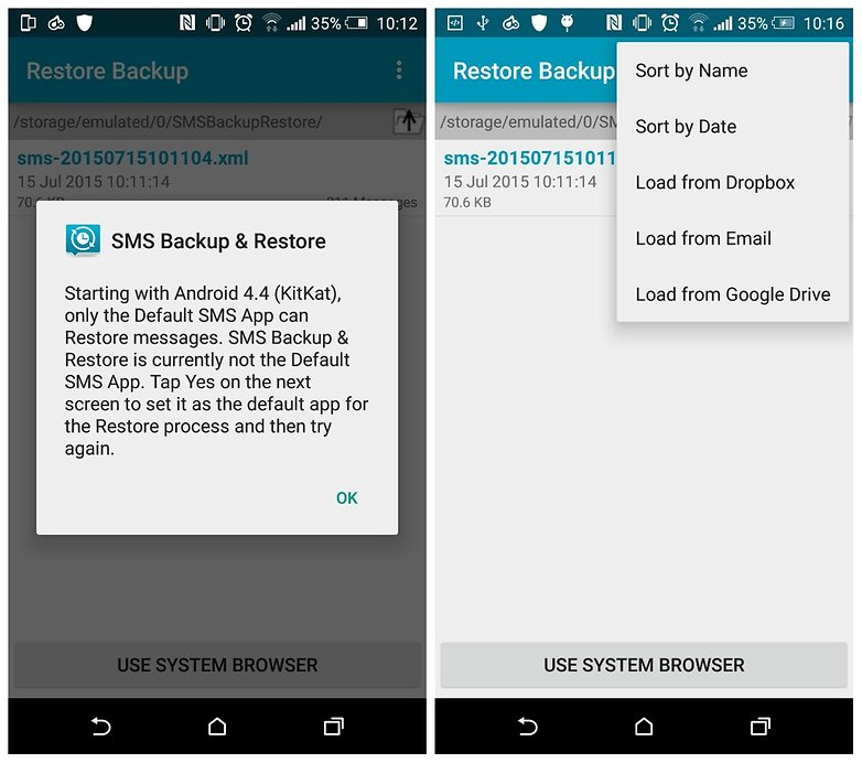 androidpit sms backup restore 4