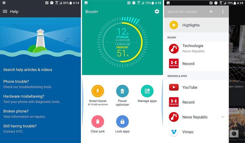 Программное обеспечение AndroidPIT HTC U11