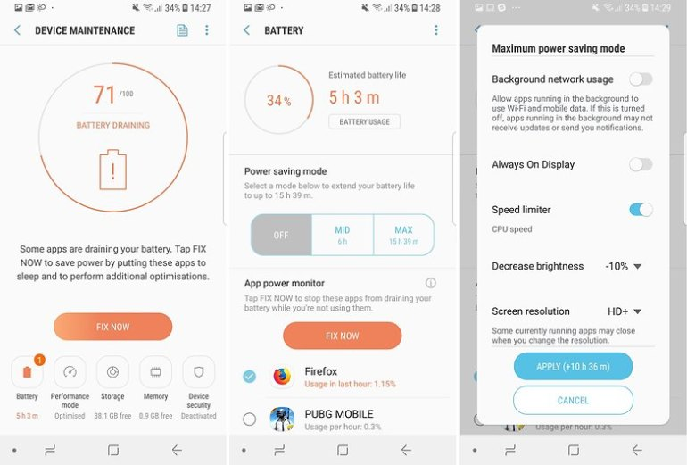AndroidPIT Samsung Galaxy S9 battery tips 04