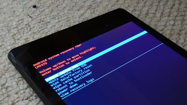 AndroidPIT nexus 7 2013 очистить меню