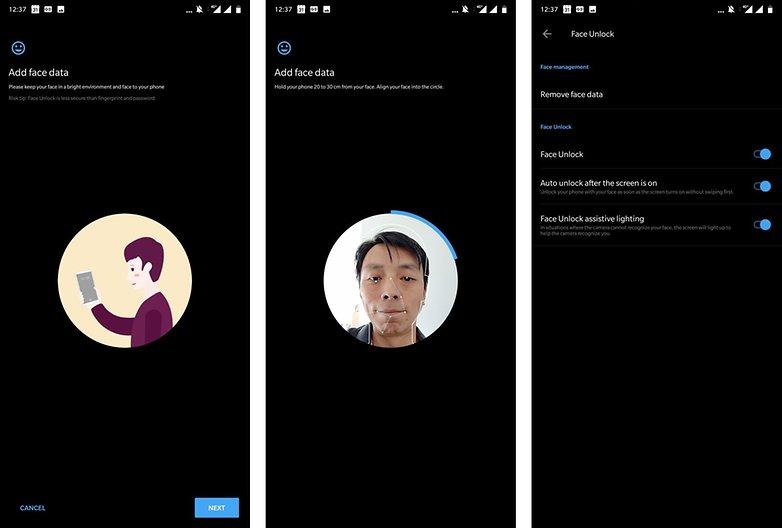 OnePlus 6 советов по разблокировке лица