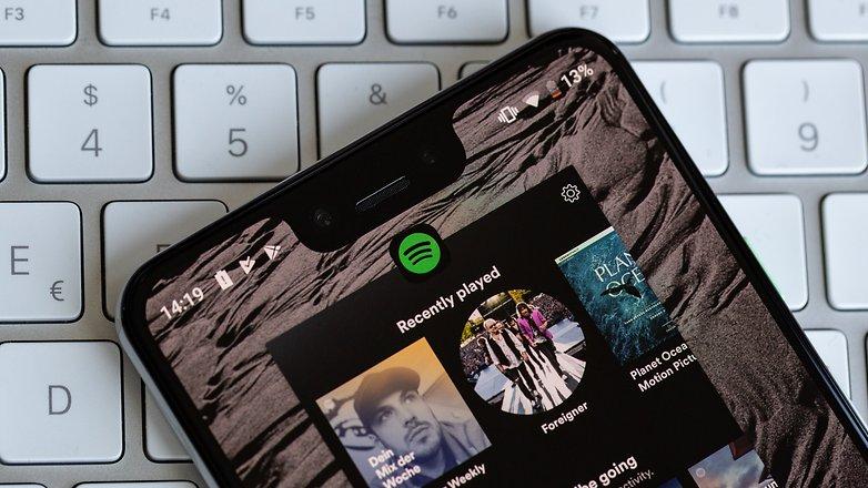 androidpit музыка приложение Spotify
