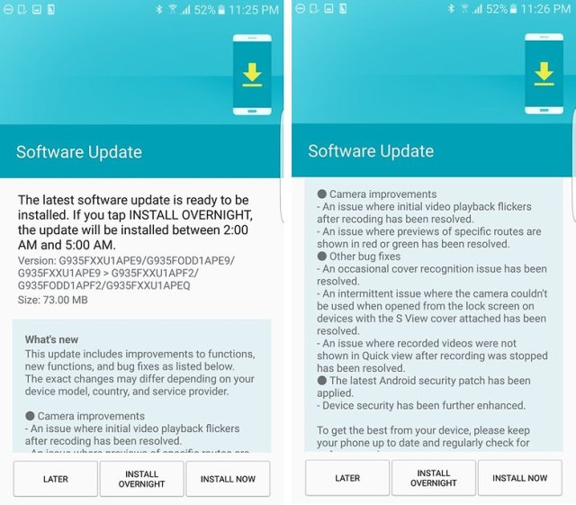 Galaxy S7 and S7 edge: the update to Android Nougat will directly in