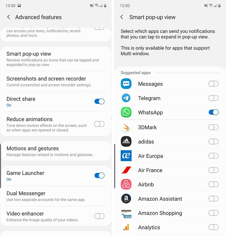 androidpit note 10 подсказок всплывающее окно
