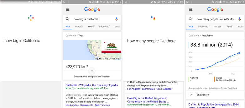 Скриншот контекстной информации Google Now