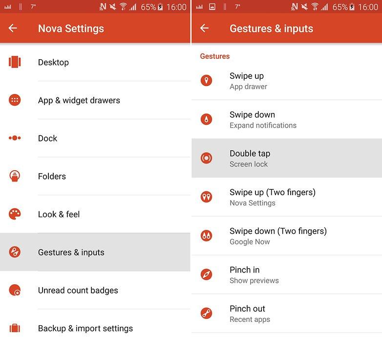 Советы и рекомендации по запуску AndroidPIT nova: двойное нажатие для блокировки