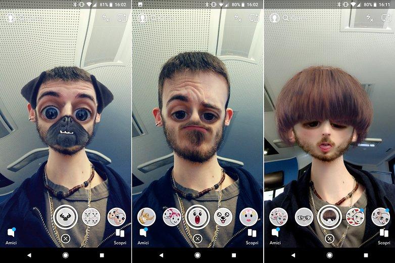Фильтры для лица Snapchat