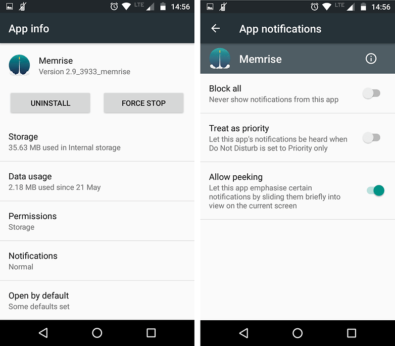 уведомления приложения androidpit marshmallow