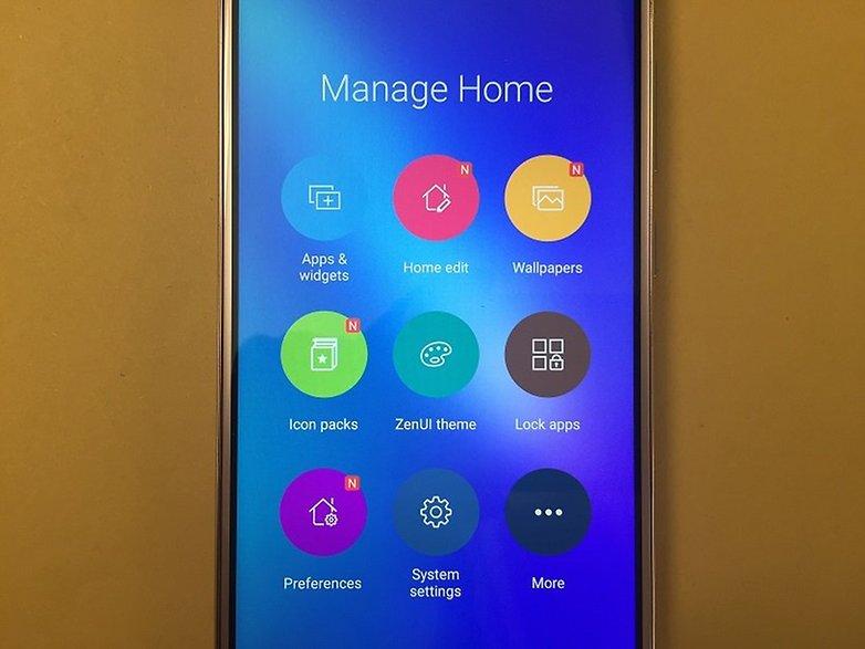 ZenFone 3 Управление главным экраном