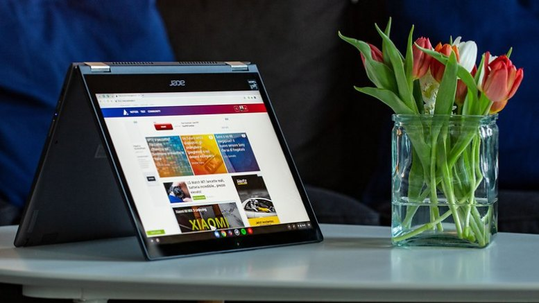 AndroidPIT Acer Chromebook Spin 13 desk