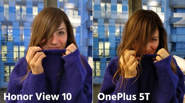 AndroidPIT oneplus 5t vs honor view 10 portrait low light