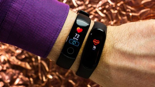 AndroidPIT huawei band 5 vs xiaomi mi band 4 heart rate