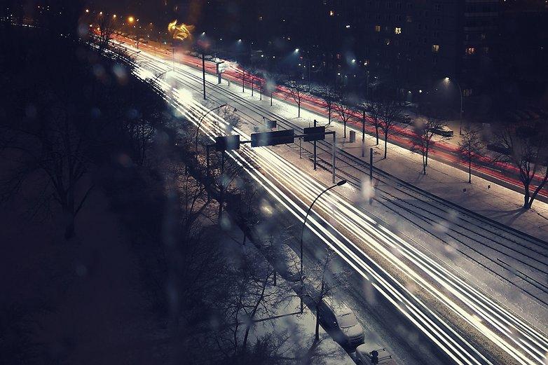 экспозиция ночной фотографии