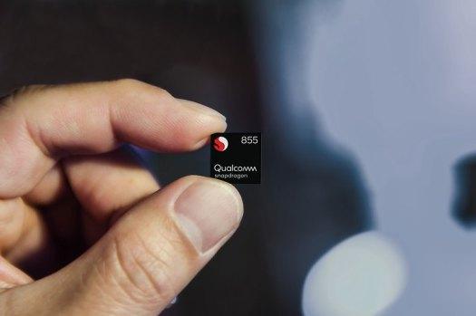 snapdragon 855 mobile platform chip front